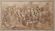 William Wynne Ryland (1732-1783) after Annibale Carracci  - Baccanale - 1765