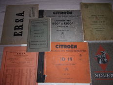 Citroen - Lot of 7 original documents from the period around 1930-1960