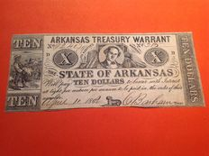 USA - Obsolete Currency - 10 dollars 1862 - State of Arkansas