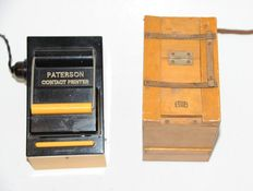 2 old contact box printers Zeiss Ikon + Paterson