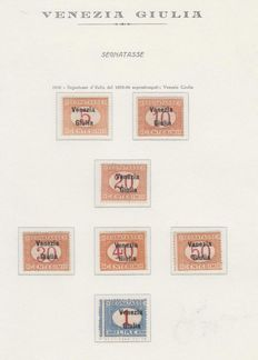 Venezia Giulia – 1918 postage due stamps from 1870/94 overprinted. High value, perfect Mnh and signed.