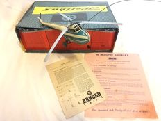Arnold, Western Germany - Length 23 cm - Tinplate remote control 'Sabena' Sikorsky Helicopter with crank drive, 1950s