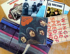 Rubber Soul, The Beatles Greatest, The Decca Tapes, and Early Recordings with Pete Best & Tony Sheridan/Wings: At he Speed of Sound and a triple Album: Wings over America live