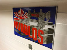 Rare enamel sign for sewing machines Mundlos 1935