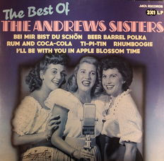 10x 2-LP's - Andrew Sisters +  Buddy, Jerry, Chuck, Elvis, & Bee Gees Early Days