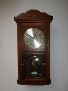 Box regulator clock – oak – Jolema – from the 1970s/80s
