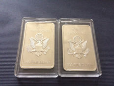 2 silver bars of 1 OZ US Air Force