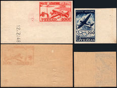 1948 Italian Occupations, Fezzan Ghadamès Air Mail Non-perforated, 2 values