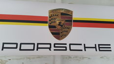 Fantastic large and strong garage Germany Porsche banner