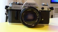 Canon AE-1, with lens 1.8/50mm