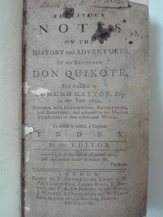 Edmund Gayton-Festivous notes on the history and adventures of the renowned Don Quixote-1786