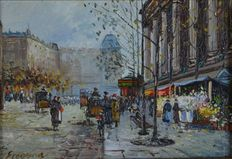 Ereveria (20th century). A Parisienne street scene at the end of the 19th century