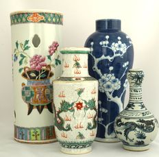 Collection of vases - China - second half of the 20th century