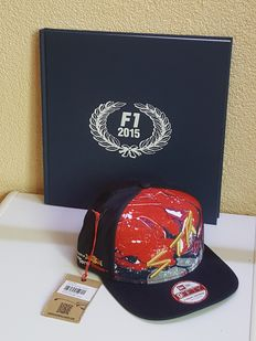 Max Verstappen - Yearbook F1 2015 in limited edition, originally hand signed by Max Verstappen and made available by sponsor EXACT + a letter from EXACT incl. autographed cap by Max Verstappen + COA.