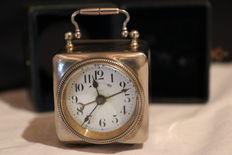Travel clock in case - period 1900