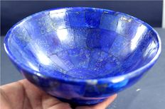 Exclusive Hand Crafted stunning genuine Royal Blue Lapis Lazuli Bowl -  559 gram