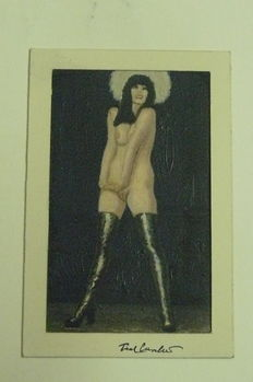 Cuvelier, Paul - original color drawing - Naked woman