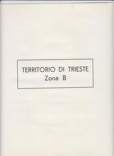 Trieste, Zone B – Advanced collection of ordinary mail stamps – air mail – sheetlets and postage due stamps, new, MNH and MH on Marini sheets