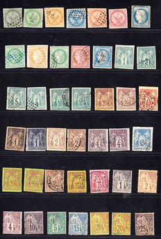 French Ex-Colonies 1859/1902 - Large Collection of 72 stamps with good values