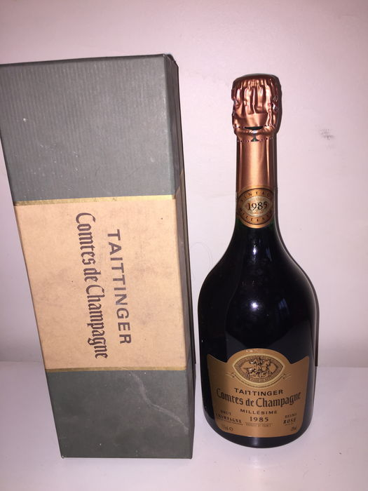 1985 taittinger comtes de champagne rose 1 bouteille catawiki. Black Bedroom Furniture Sets. Home Design Ideas