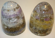 Set of power Orgonite Beacons- 15 x 15cm - 1.3 and 1.7 kg  (2)