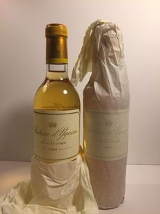 2004 Chateau d'Yquem, Sauternes - 2 perfect half bottles (37.5cl)