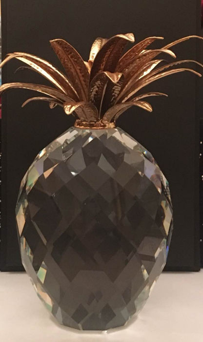 Swarovski Crystal - Special-sized gilt pineapple
