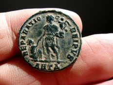 Roman Empire - Gratian (378 - 383 A.D.) bronze maiorina (4,96 g. 21 mm.) from Antioch mint, 378-383 A.D. REPARATIO REIPVB. ANTA.