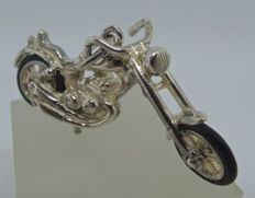 Finely detailed silver chopper - pendant