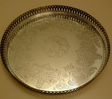 Swedisch silverplated tea serving tray
