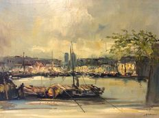 Jan K (1914-1990) - Paris on the Seine