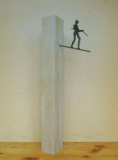 Magnificent sculpture of tightrope walker, 2nd half 20th century