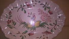1 oval dish, Chinese style
