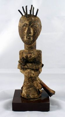 Fetish figurines with nails - SONGYE - D.R Congo
