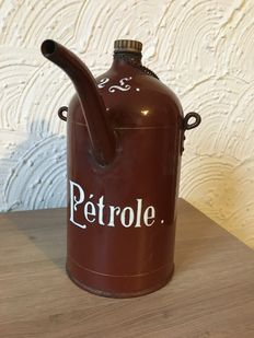 Vintage - Antique  Enamel  'pétrole' Can