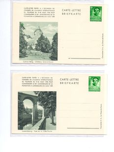 Luxembourg - Full set of 6 letter cards, 1.25FR