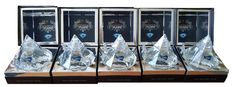 5 Bottles presented in a gift box 700ml, 40% ABV, each of our uniquely attractive with a genuine natural precious gem stone which includes Sapphire, Emerald, Ruby, Topaz, and Peridot