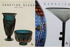 2 Books : Venetian Glass 1890-1990  &  Art of the Barovier Glassmakers in Murano 1866-1972