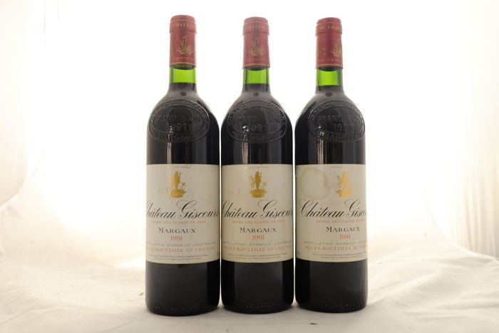 1991 Chateau Giscours, Grand Cru Classe, Margaux, France, 3 bottles