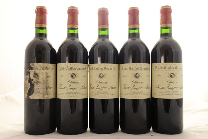 1999 Chateau Franc Jaugue Blanc, Saint-Emilion Grand Cru, France, 5 bottles.