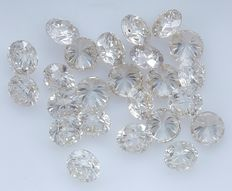 24 Round Brilliant Diamonds – 1.98 ct