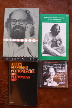 Lot of 4 items from Allen Ginsberg - 1980 / 1997
