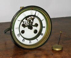 Antique French mantle clock movement
