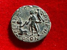 Roman Empire - Gratian (378 - 383 A.D.) bronze maiorina (4,06 g. 24 mm.) from Arles mint. REPARATIO REIPVB. PCON.
