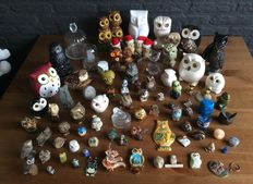 80 uilen (owl's) from all over the world