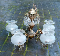 Brass ceiling lamp - Four lights - 1950s-1960s