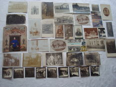German Empire; Lot with 39 pieces, original photos, postcards, reservist image from about 1900-1918