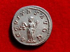 Roman Empire - Philip I the Arab (AD 244–249). silver antoninianus (4,10 g. 21 mm.) from Rome mint, 246 A.D. AEQVITAS AVGG.