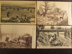 France lot of 55 cards on the conflict of 1914 / 1918 (the great war)