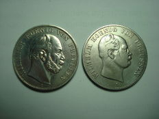 Old Germany, Prussia, Coronation Thaler 1861 A and Victory Thaler 1871 A - silver